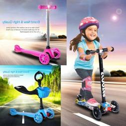 Kids Scooter Deluxe for Age 3-8 Adjustable Kick Scooters Gir