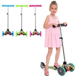 Kids Scooter Deluxe for Age 2-8 Adjustable Kick Scooter LED