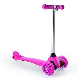 Kool KiDzKick Push Scooter with Light Up LED Wheels for Girl