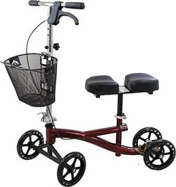Roscoe Knee Scooter with Basket, Burgundy, Knee Walker for A