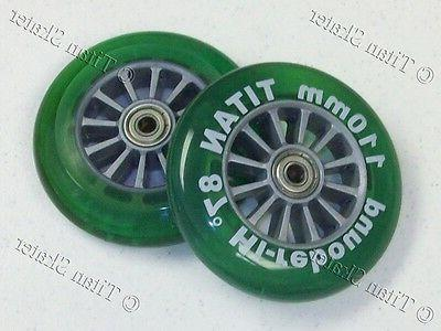 110mm green scooter replacement wheels with bearings