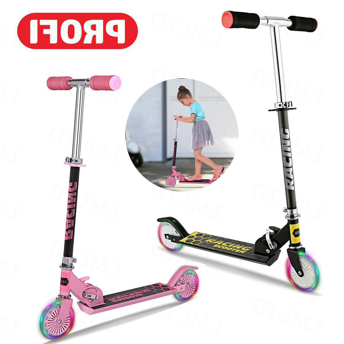 2 Kids Adjustable Height Scooters