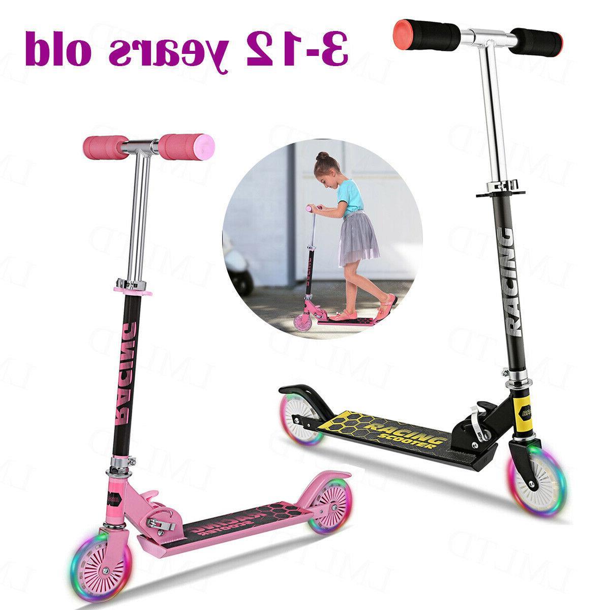2 wheels kids scooter adjustable height deluxe