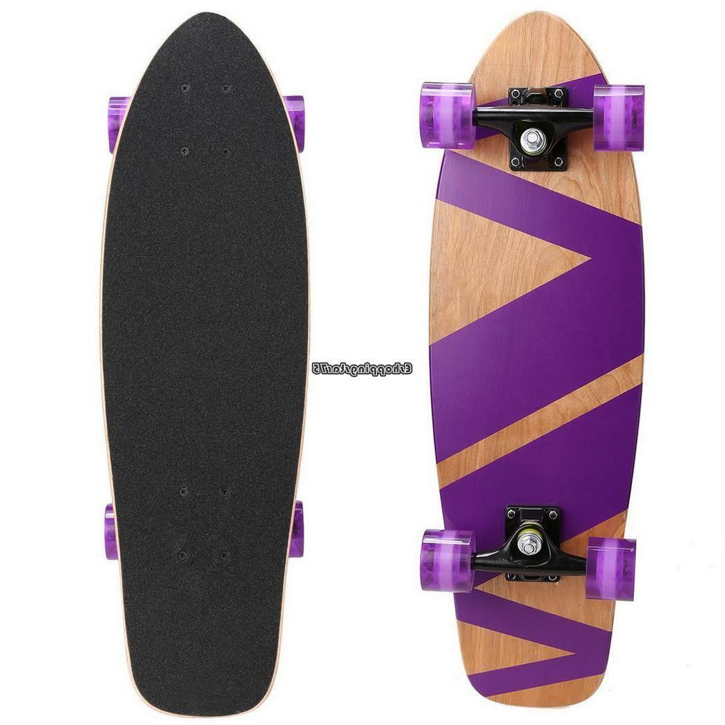 """27"""" Skate Scooter Style Kids Board Wood"""