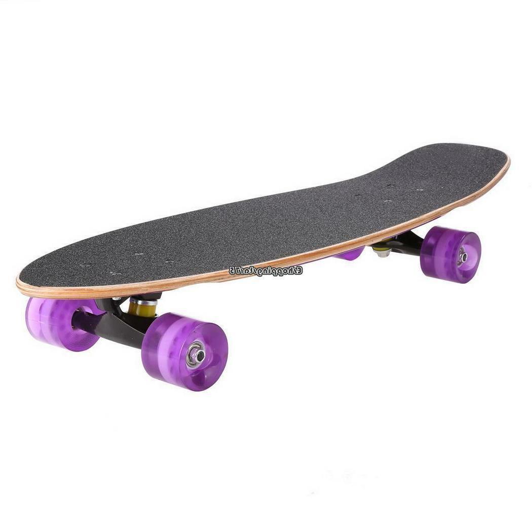 """27"""" Skate Scooter Cruiser Style Kids Skateboard Wood Gift"""