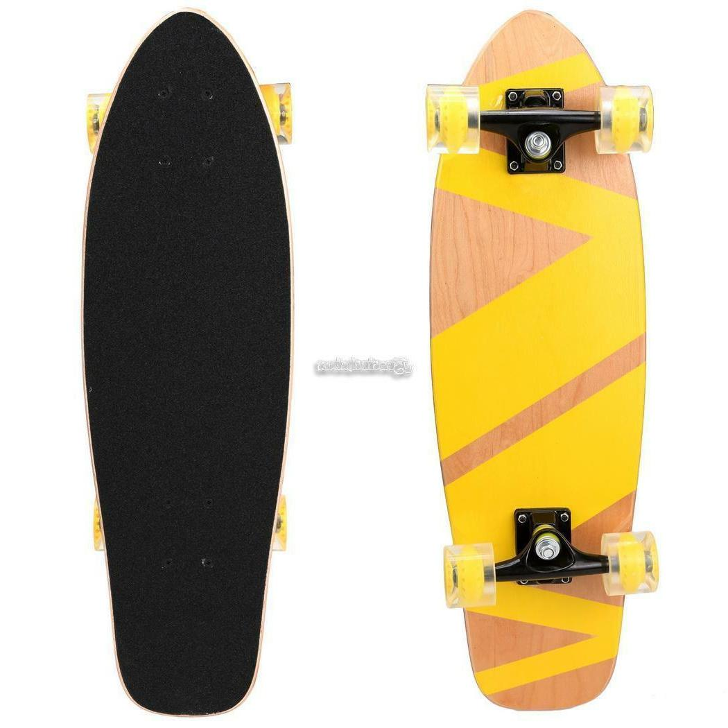27inch Skateboard Cruiser Deck Printed Scooter