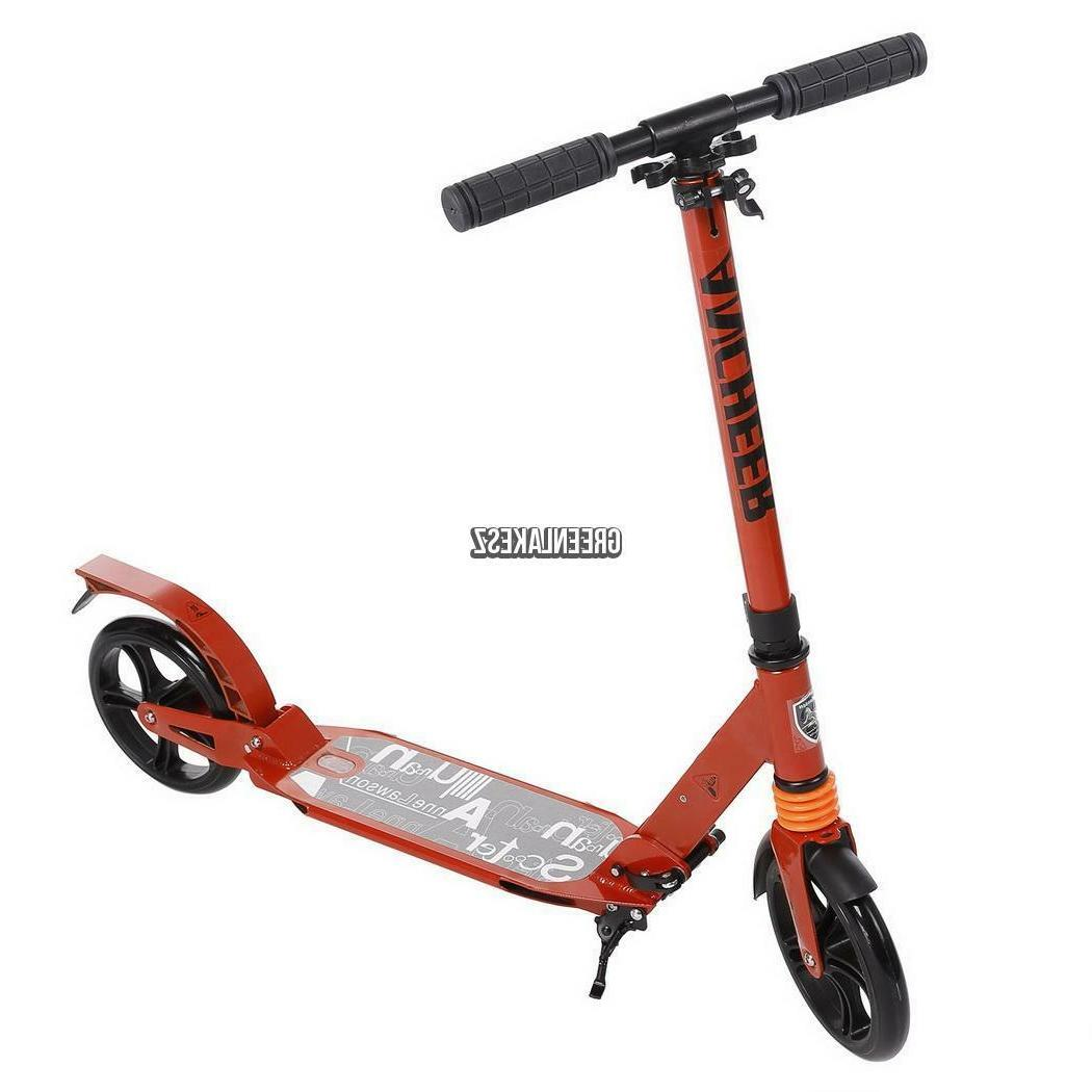 2Wheel Folding Scooter Adjustable Suspension Kick 4