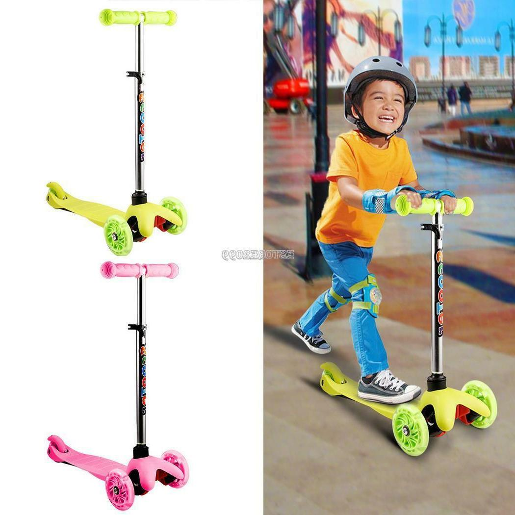 3 wheels kick scooter skate ride kids