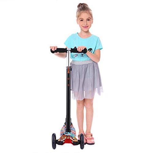 Hikole for Mini Kick Scooter Light for Children Boys to