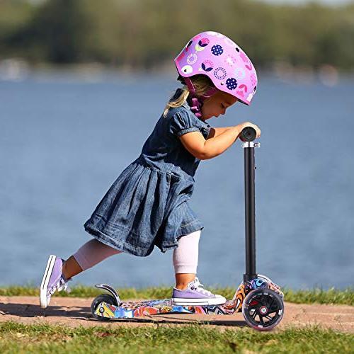 Hikole Scooter for Mini Kick Light Up Wheels for Children 3