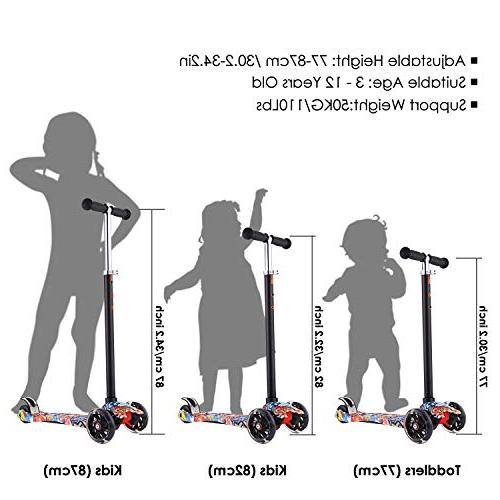 Hikole Scooter for Kids, Mini Kick Scooter Children Boys