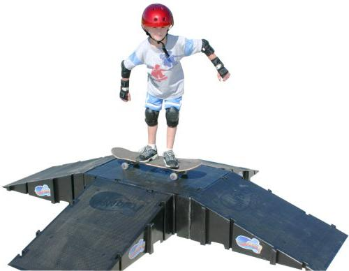 4 sided pyramid skateboard kit