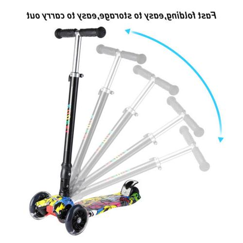 US Folding for Scooters Girls Boys Wheels LED
