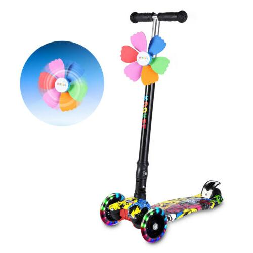 4 Wheels Kick Kids Scooter Toddlers Exercise Adjustable Scooters