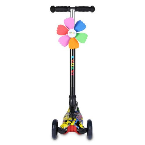 US Folding for Age 4-12 Adjustable Scooters Wheels LED