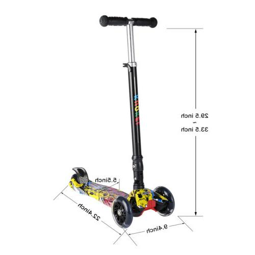 4 Wheels Scooter Toddlers Adjustable Height Scooters US