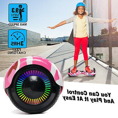 """6.5"""" Hoverboard Bluetooth Electric LED Self Balancing UL2272"""
