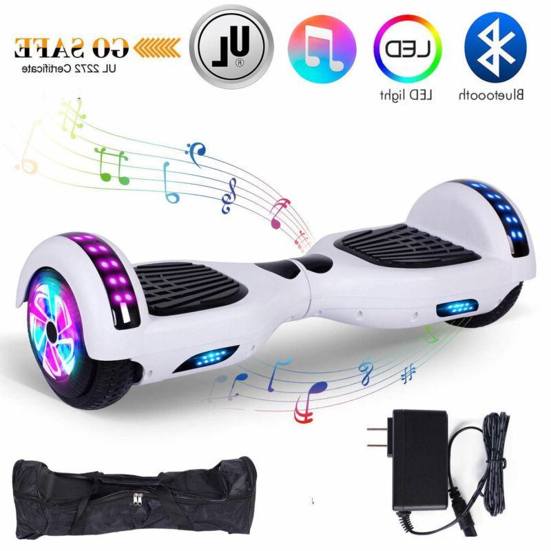 "6.5"" Bluetooth Self Balancing Light Scooter"