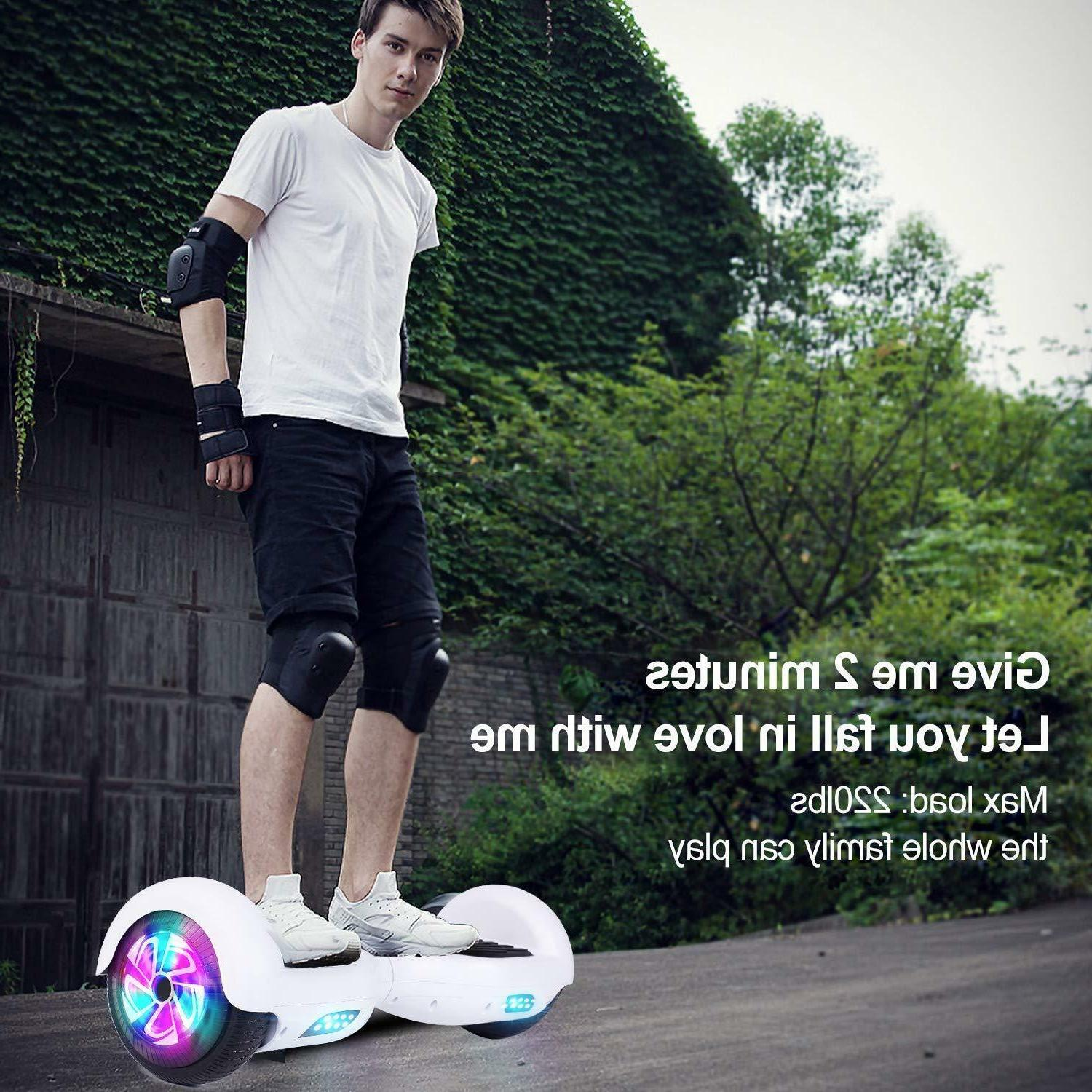 "6.5"" Bluetooth Hoverboard Self Balancing LED Light Scooter"