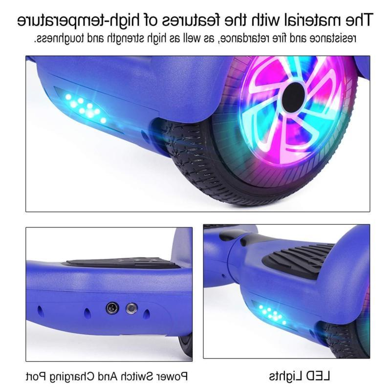 "6.5"" Bluetooth Hoverboard Electric Self LED Scooter Hover"