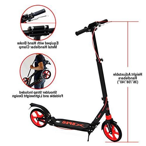 Xspec Adult Kick Street with Full Wheel Braking Kick Stand, lbs, Urban Commuter Street Carrying