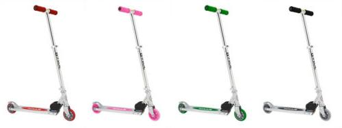 a kick scooter 6 colors