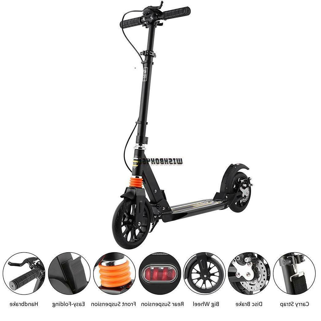 Adult Kick Scooter Adjustable Suspension Scooter Rear