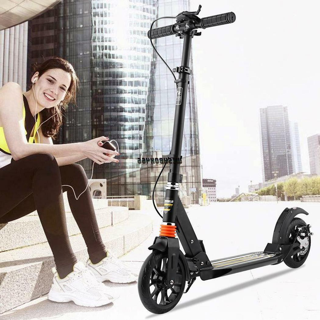 Adult Foldable Kick Scooter Adjustable Height Suspension Sco
