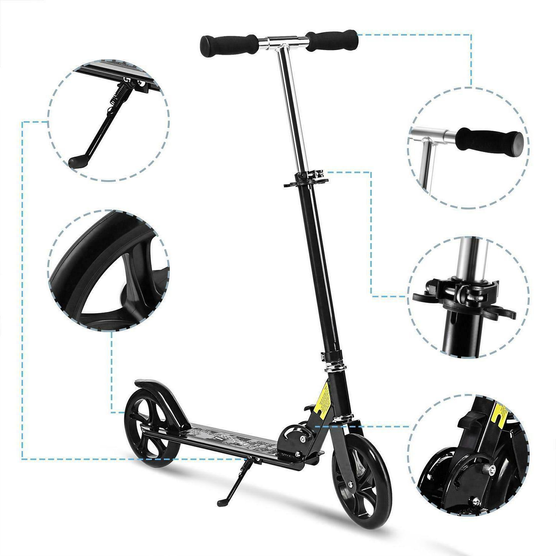 Adult Scooter Foldable 3 Adjustable 2 Brake