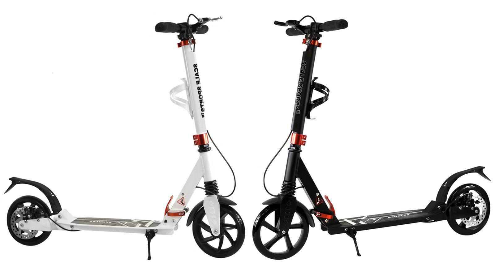 adult kick scooter portable lightweight adjustable suspensio