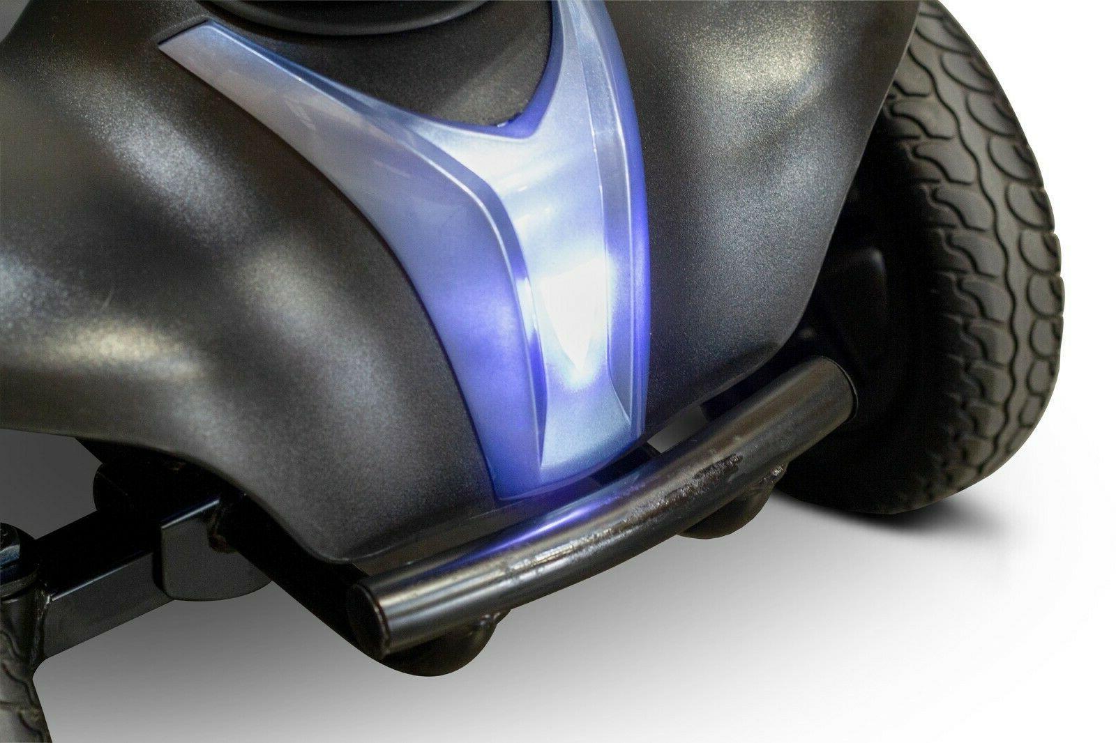 Blue EWheels Mobility Scooter, 300 lb Cap, 15 EZ Disassembly