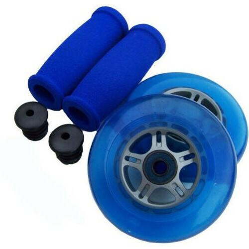 blue replacement razor scooter wheels abec 7