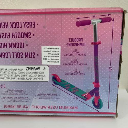 MADD Scooter foldable Pink Teal 100mm