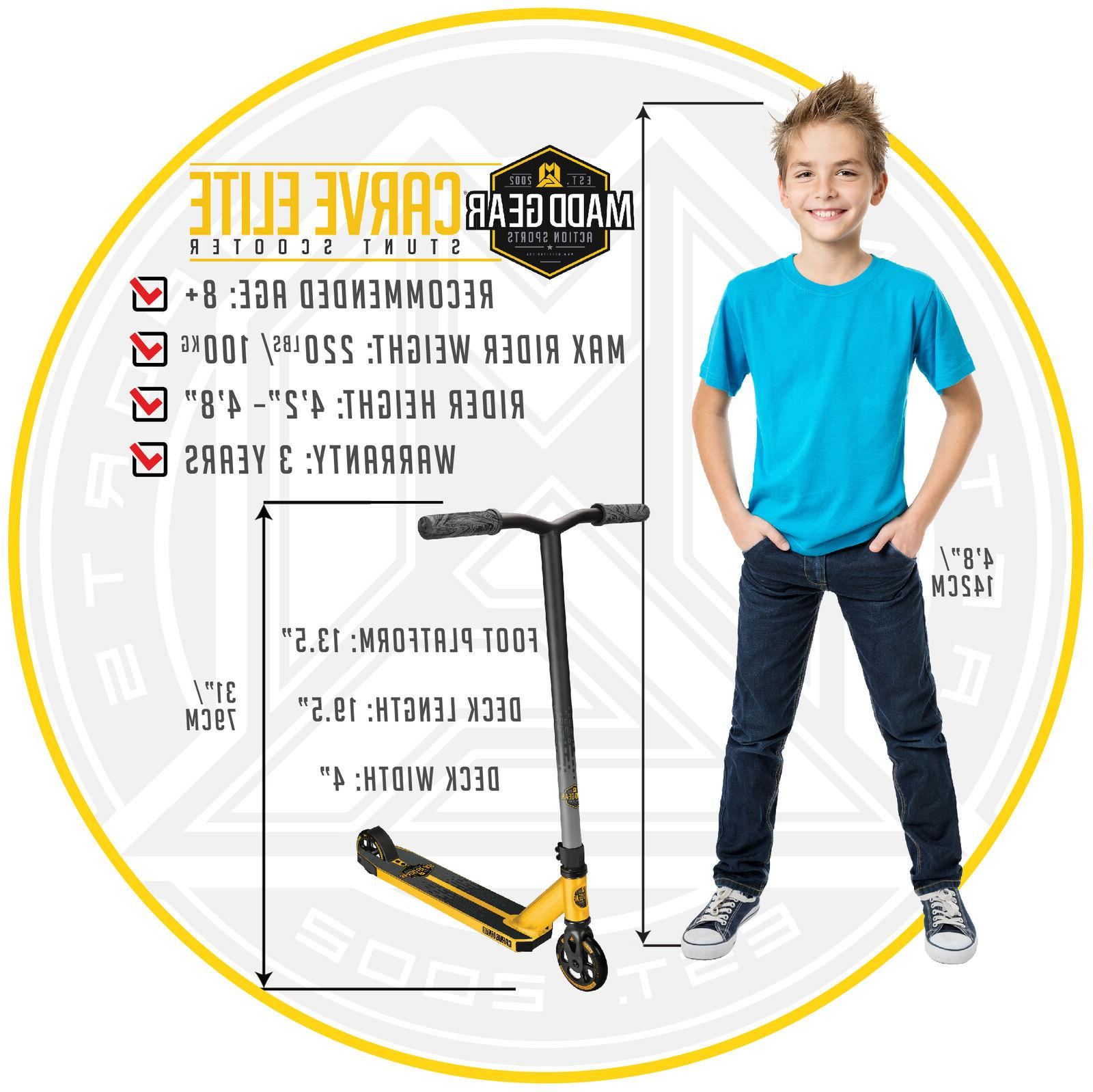 Madd Gear Elite – Gold/Black Great For Kids - Max Weigh...