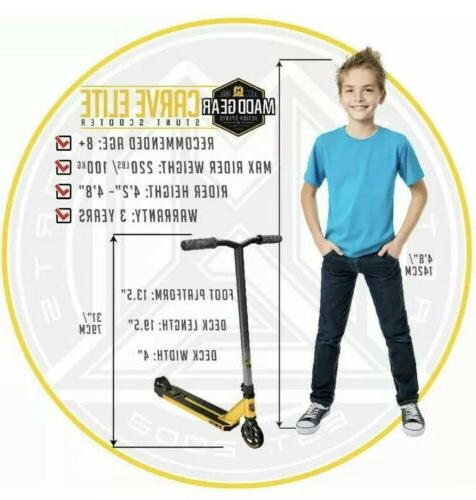 Madd Gear– ELITE– Gold/Black– Ages 8+ 220lbs