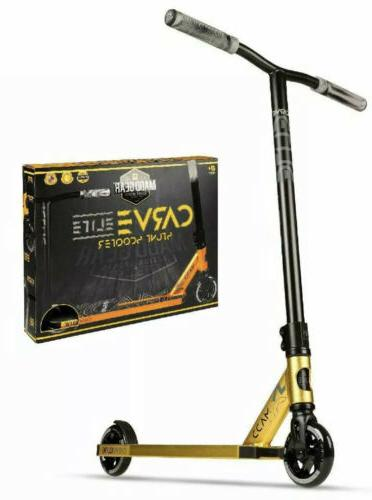 carve elite gold black stunt freestyle scooter
