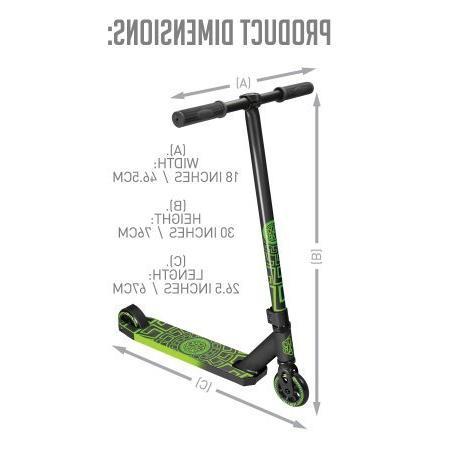 Madd Stunt Scooter - Black & Green