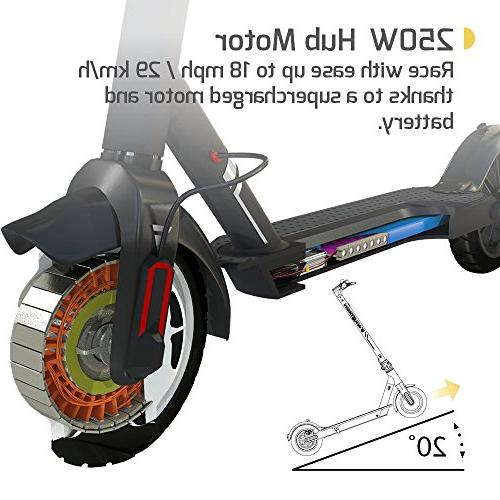 """SWAGTRON Commuter Electric Scooter, 18mph 8.5"""" Run Flat Cruise APP Controlled, Foldable, - Swagger 5 Official Ride Chicago"""