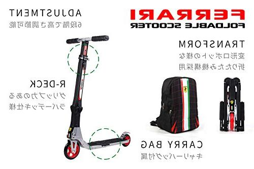 Ferrari Collapsible Scooter White