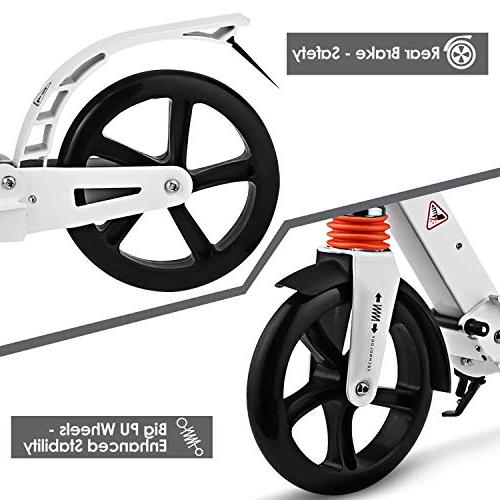 Hikole Kick Scooter with | Foldable Adjustable | Scooter for and Age