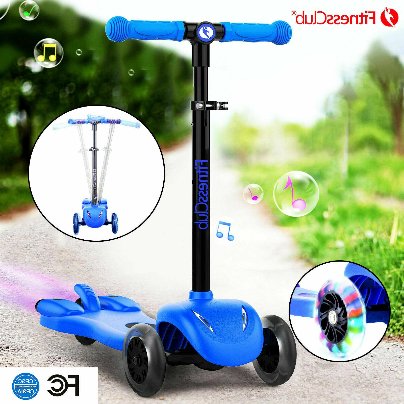 deluxe kids kick scooter adjustable child scooters