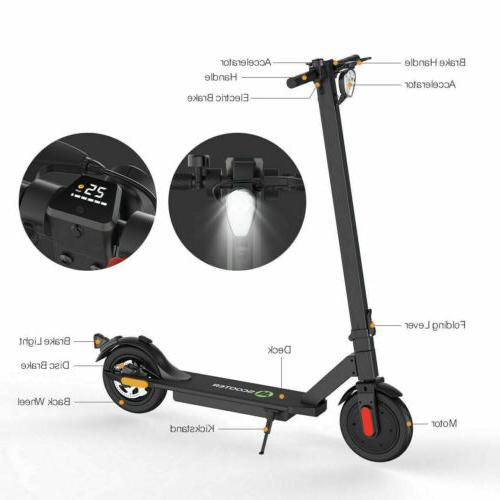 🛴ELECTRIC SCOOTER LONG FOLDING E-SCOOTER SAFE COMMUTER