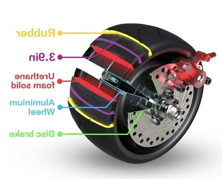 Electric Wide Wheel Folding Dual Kick E-Scooter Long Range