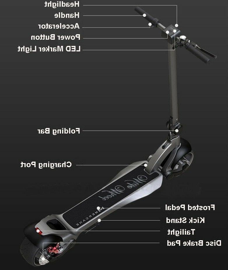 Electric Wheel Folding Kick E-Scooter Long Range