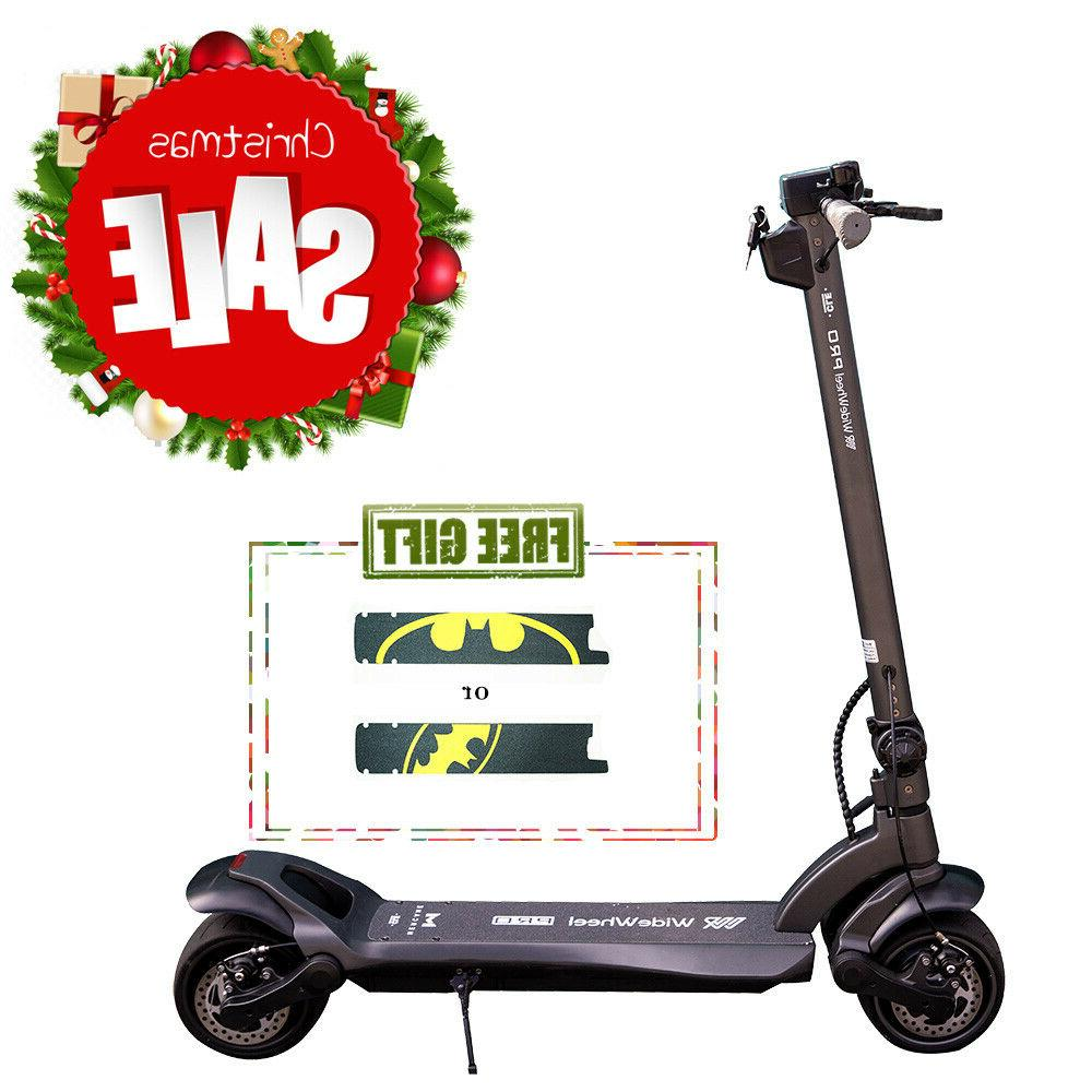 electric scooter wide wheel folding dual motor