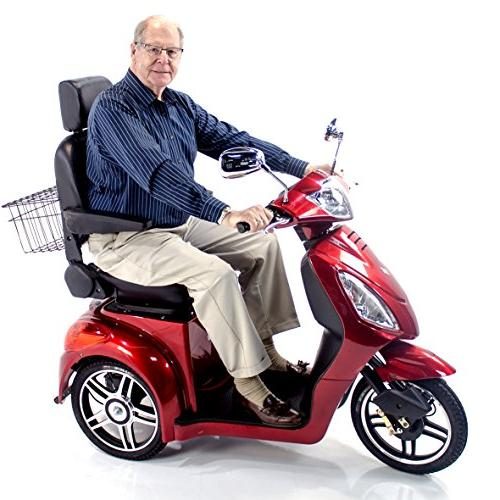 EWHEELS EW-36 Electric Mobility Scooter Adults RED, Mobility Cover Included
