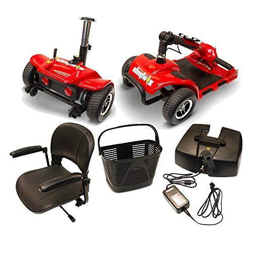 eWheels EW-M34 Long Range Lightweight Mobility Scooter 300Lbs -