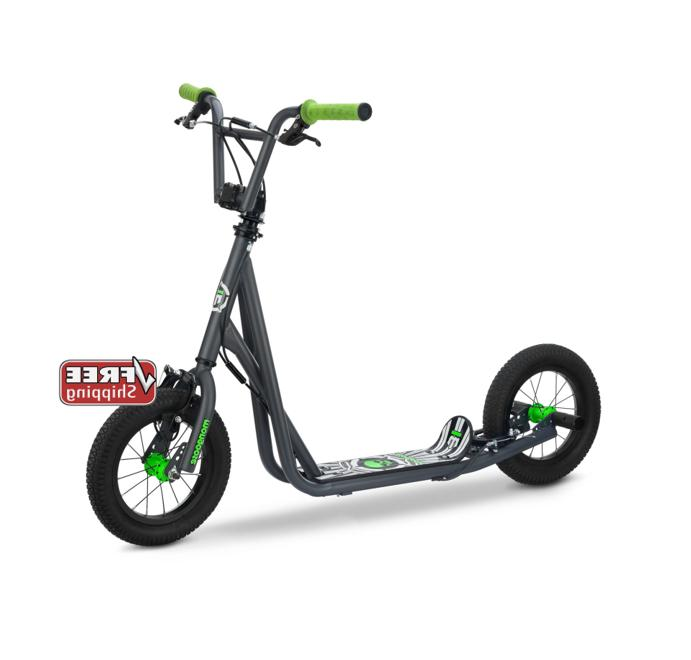 Mongoose Expo Scooter, 12-inch wheels, ages 6 and up,grey, a