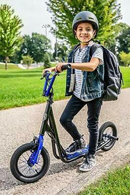 Mongoose Rear Inflatable Wheels Black/Blue