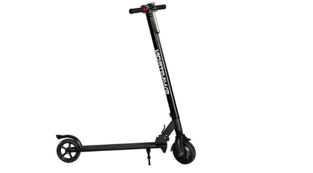 Foldable Electric Motor Scooter Powerful Ride Solid Rubber T